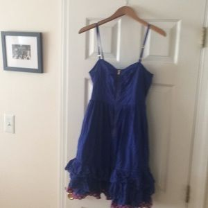 Tracy Feith Electric Blue Strapless Dress